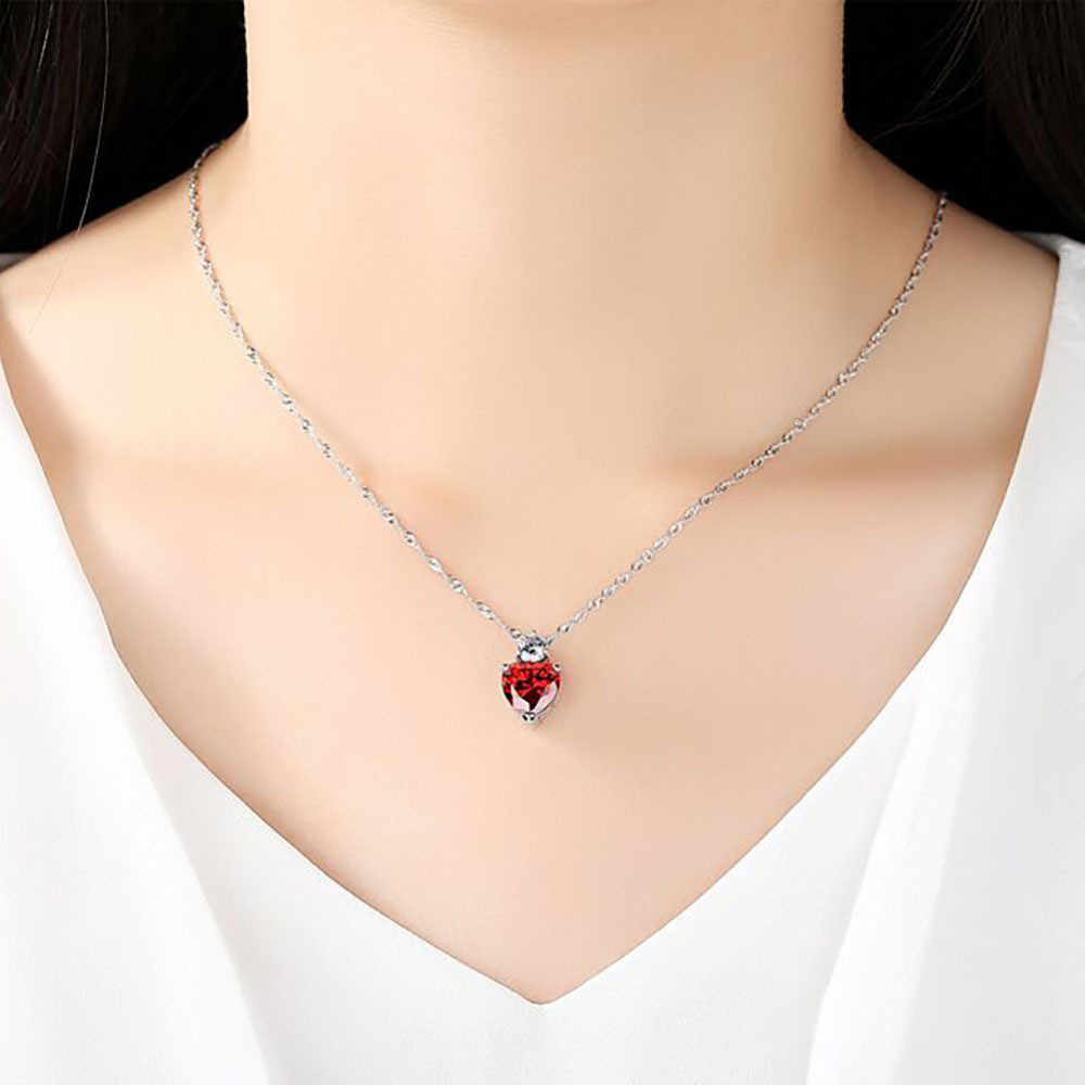 Pendant Necklace Women Stylish Classic Luxury Heart Chain Necklaces Ladies Necklace Jewelry Pendant Collares De Moda 2019  L0605