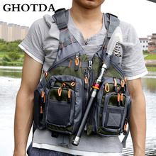 GHOTDA Fishing Life Vest Outdoor For Water Sports Drifting Swimwear Survival Safety