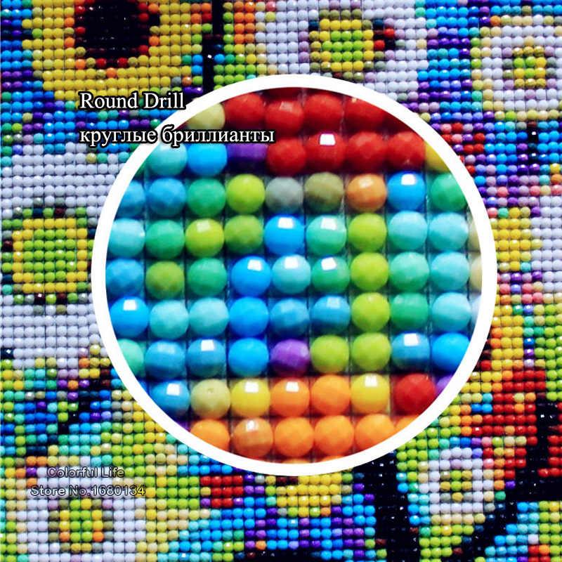 RUBOS 5D FAI DA TE Disegni e schemi per puntocroce Fiore di Ciliegio Pieno Cornici e articoli da esposizione Diamante Del Ricamo di Strass Modello 3D Needlework