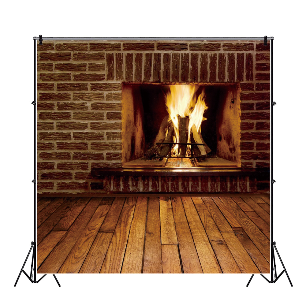 Yeele Indoor Fireplace Brick Wall Wood Floor Baby Personalized Photographic Backdrops Photography Backgrounds For Photo Studio