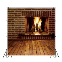 Yeele Indoor Fireplace Brick Wall Wood Floor Baby Personalized Photographic Backdrops Photography Backgrounds For Photo Studio kate red brick wall photography studio props wood floor background for studio backdrops for photography