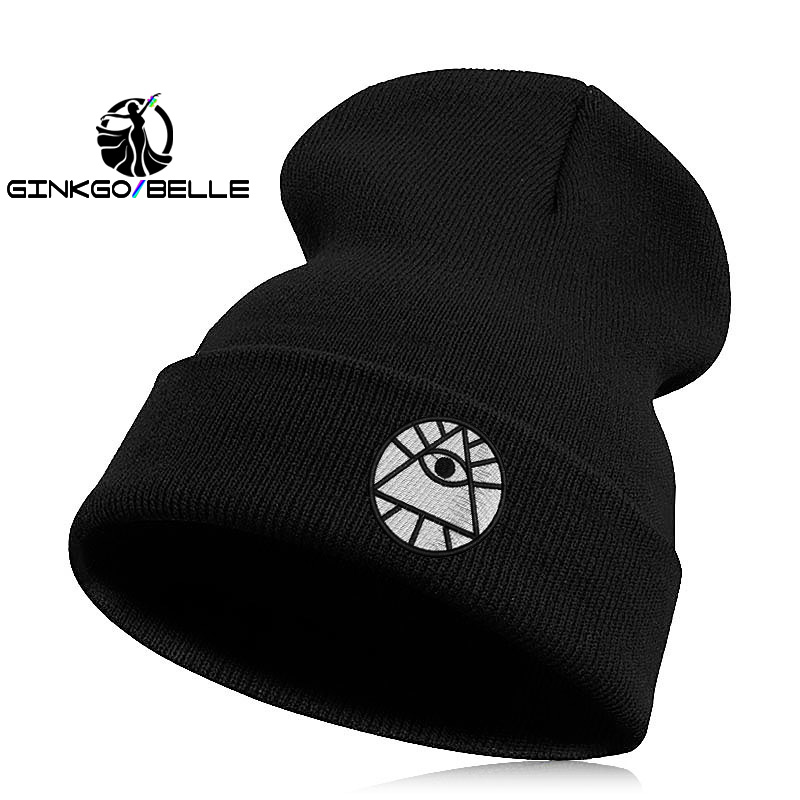 Beanie   Hat   Skullie   Cap Slouchy Winter Embroidery Cool Punk Men Women Boy Girl Teens Street Dance Evil Eyes Luck