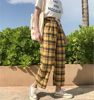 Manta de verão cintura elástica calças perna larga