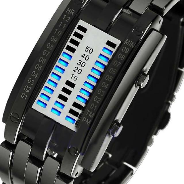 Men Women Creative Luxury Digital LED Watches Bracelet Date Binary Waterproof 30m Military Electronics Wristwatch Relogio Mascul 4