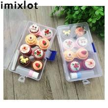 IMIXLOT 1Set Cartoon Cute Cream Cake Glasses Double Contact