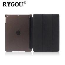 RYGOU Para Apple mini iPad 1 2 3 Caso Ultra Delgado de una sola pieza Cubierta Elegante magnética de Cuero Mate de la Contraportada de Shell para el ipad mini Caso