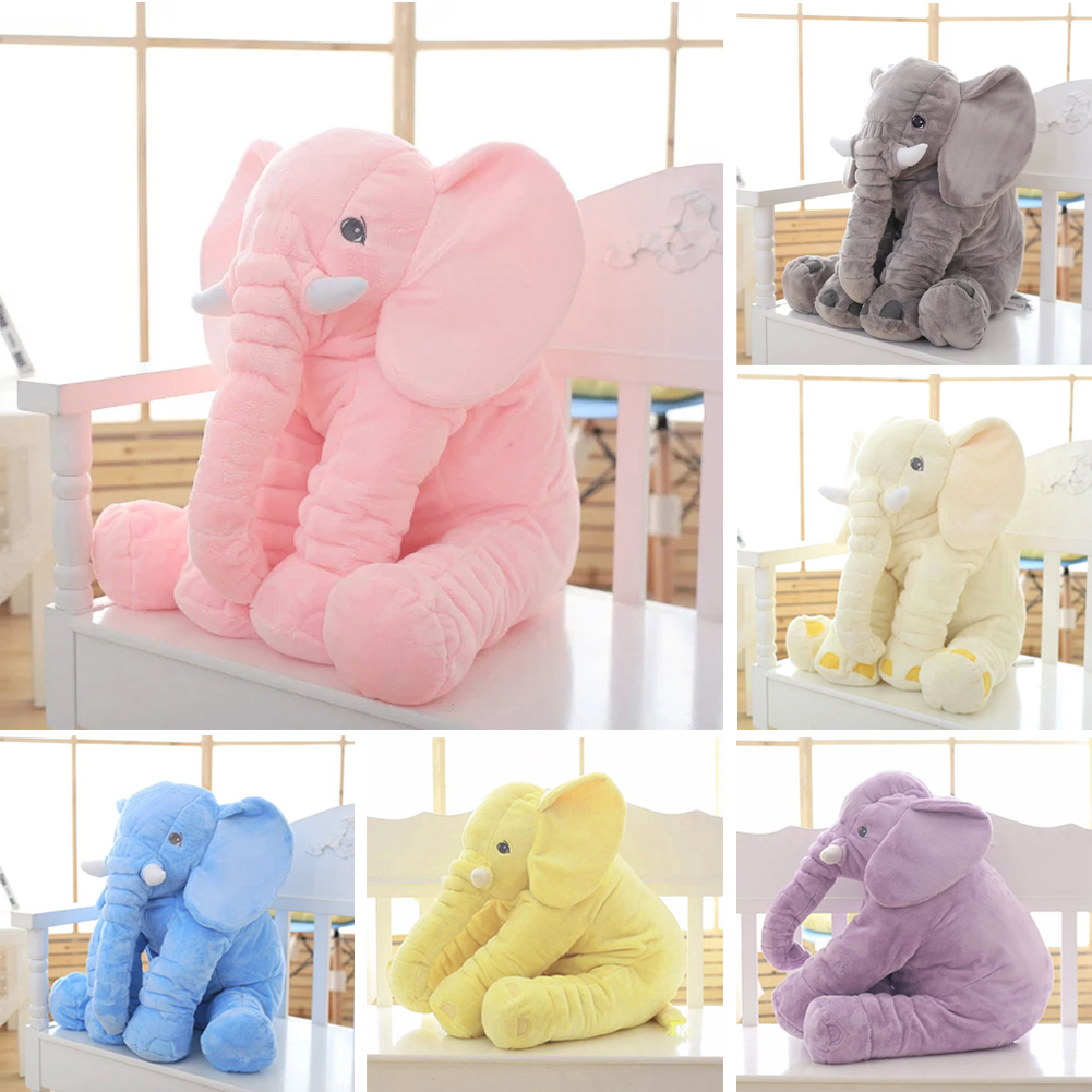 Large Kids Plush Elephant Toy Kids Sleeping Back Cushion Elephant Doll PP Cotton Lining Baby Doll Stuffed Animals
