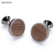 Популярные новые круглые деревянные запонки из сандалового дерева