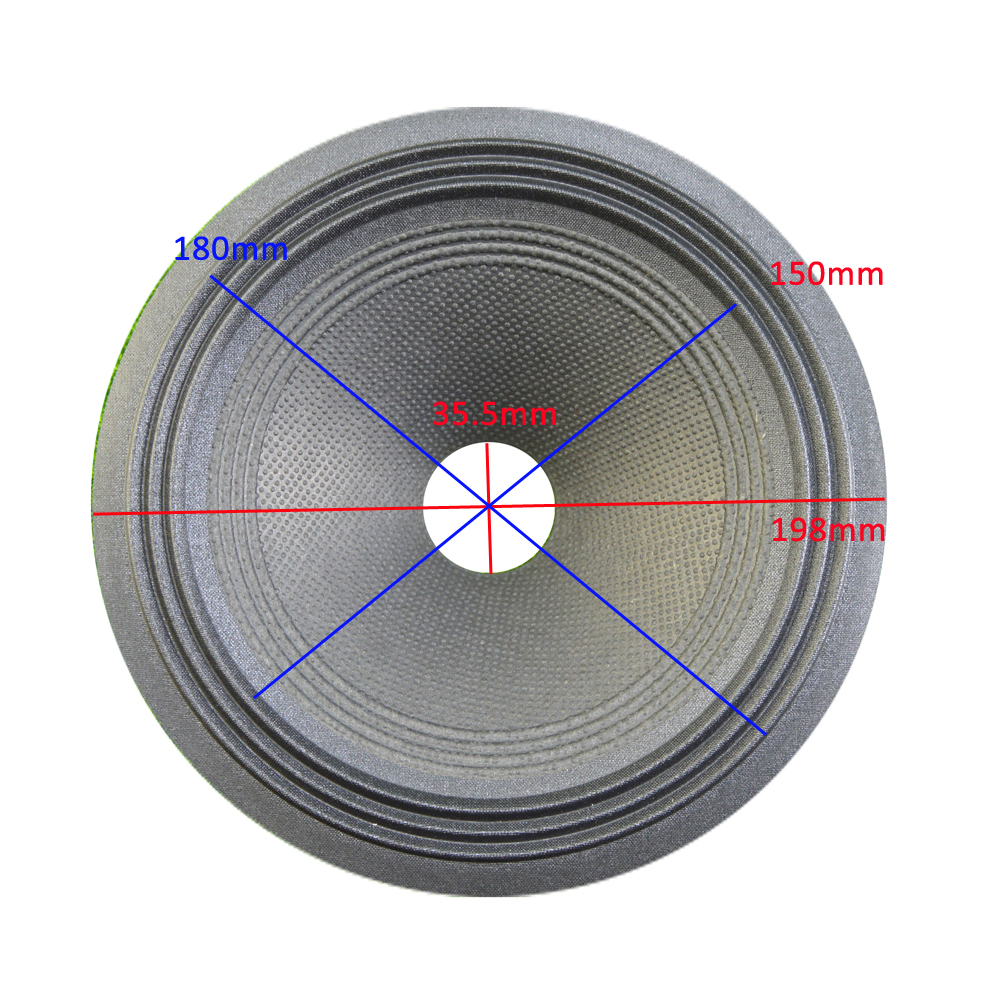 8 inch Loudspeaker Paper Cone (198mm*180mm*150mm*35.5mm) 50mm Height With Cloth Edge Speaker Woofer Paper Cone