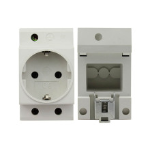 цена на New German standard Rail Mount AC Power Modular Socket 16A 250V AC socket Connector