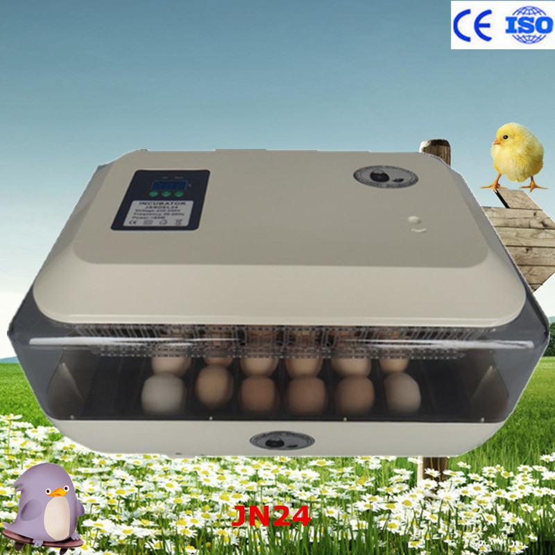 Wholesale and retail high quality 220v 24 eggs incubator dual power automatic temperature controller full digital incubator new 39 eggs full automatic incubator