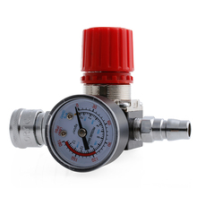 1/4 Air Compressor Regulator Pressure Switch Control 180PSI Relief Pressure Regulating Valve Gauges 1pc air compressor valve 1 4 180psi air compressor regulator pressure switch control valve with gauges