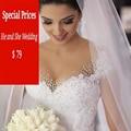 2016 Romântico Sexy Ver Através Voltar Tulle Vestido De Noiva A-Line da Luva do Tampão Com Apliques de Luxo Pérolas Crystail Hochzeitskleid