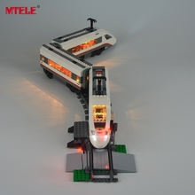 MTELE Brand New Arrival Led Light Building Blocks Set For Trains High-speed Passenger Model Toy Compatible with lego 60051 цена