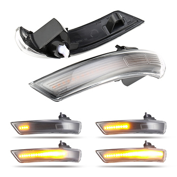 цена на 2pcs Dynamic Turn Signal Light LED Side Wing Rearview Mirror Sequential Indicator Blinker Lamp For Ford Focus MK2 MK3 2012-2018