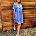 2016 New Fashion Women Summer Dress Sexy Off Shoulder Short Sleeve Front Button Party Dresses Female Casual Loose Vestidos