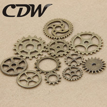 12PCS Mixed Gear Charms Antique Bronze Steampunk Movement Metal DIY Jewelry Charms Making