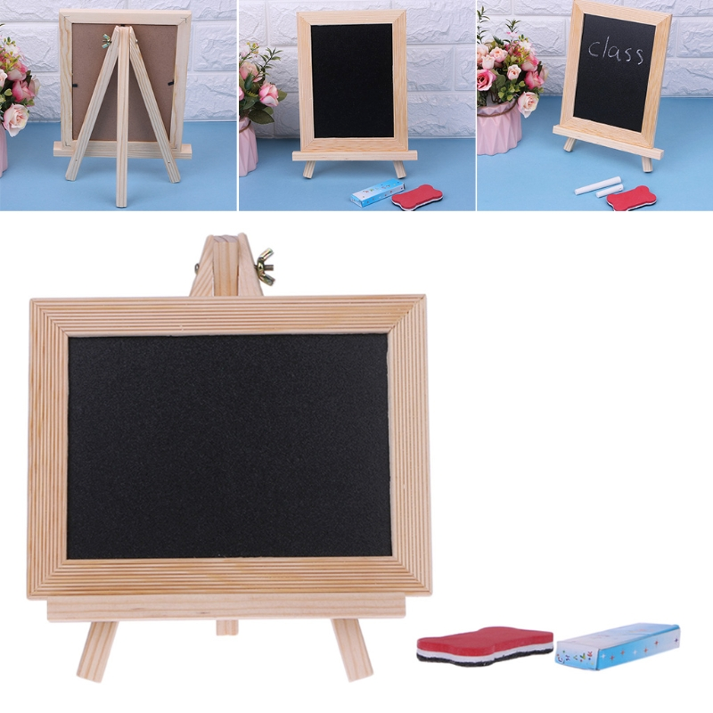 Wood Frame Desktop White Dry Erase Whiteboard Children Kids Toy Chalk Wipe Board 20.5cmx15.5cm