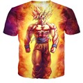 Drop shipping  Anime Dragon Ball Z Super Saiyan T-Shirt 3d Women/Men Summer Style  tops tee