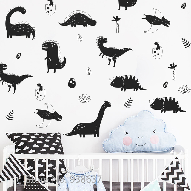 Dinosaur Wall Decals Sticker Boys Nursery Decor Vinyl Removable DIY Wall  Stickers Bedroom Self Adhesive Art