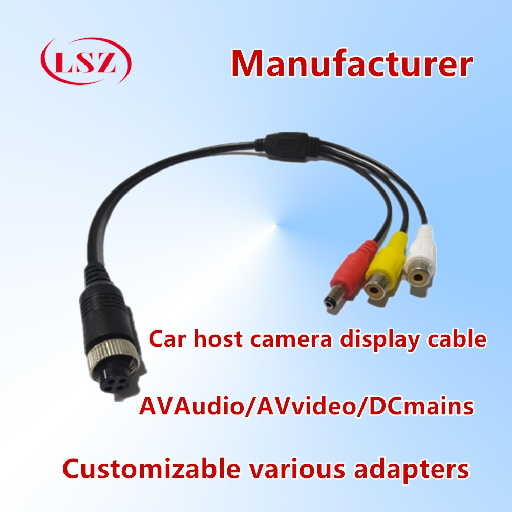LSZ Aviation Head Adapter For Direct Use In Car Surveillance Video Recorder Connection Audio / Video Power Cord