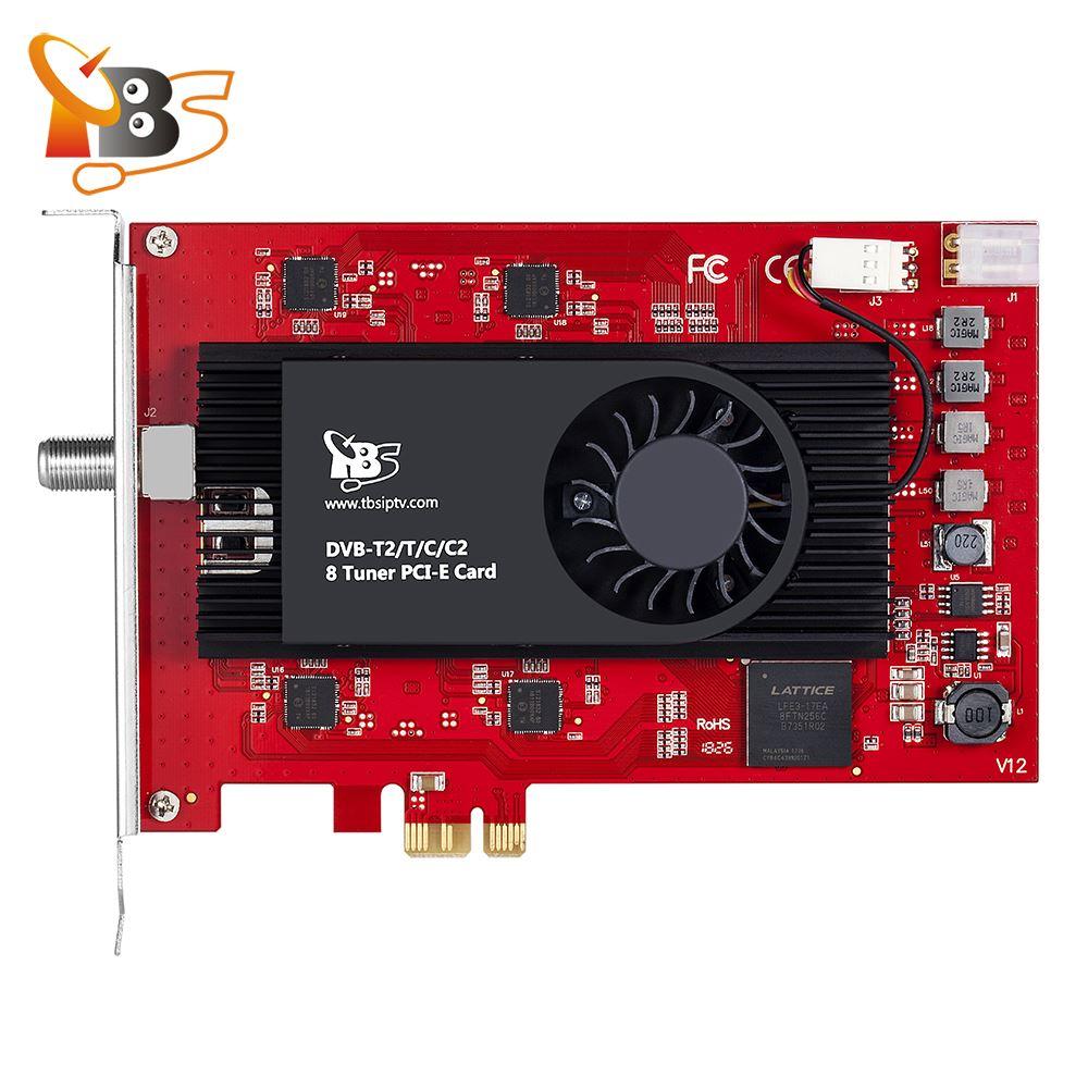 Carte PCIe TBS6209 8 Tuner DVB-T2 C2 T C ISDB-T pour les chaînes de télévision ale par câble terrestre HD/SD en direct