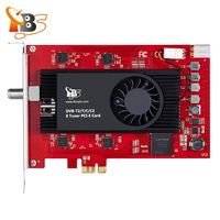 TBS6209 8 Tuner DVB T2 C2 T C ISDB T PCIe Card for Live HD/SD Terrestrial Cable FTA TV Channels