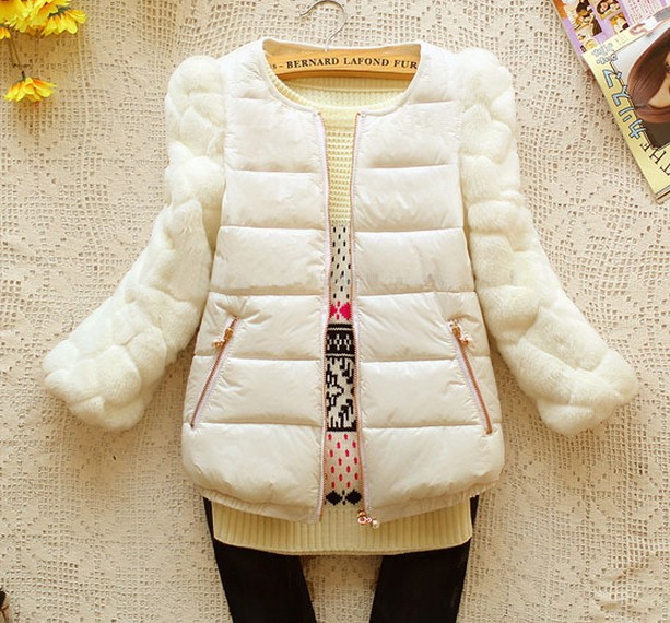 ФОТО 2017 Three Quarter Slim Three Solid Chains And Coats Top Fashion Zipper Broadcloth No 80% New Quarte Sleeve Seven Female Jacket