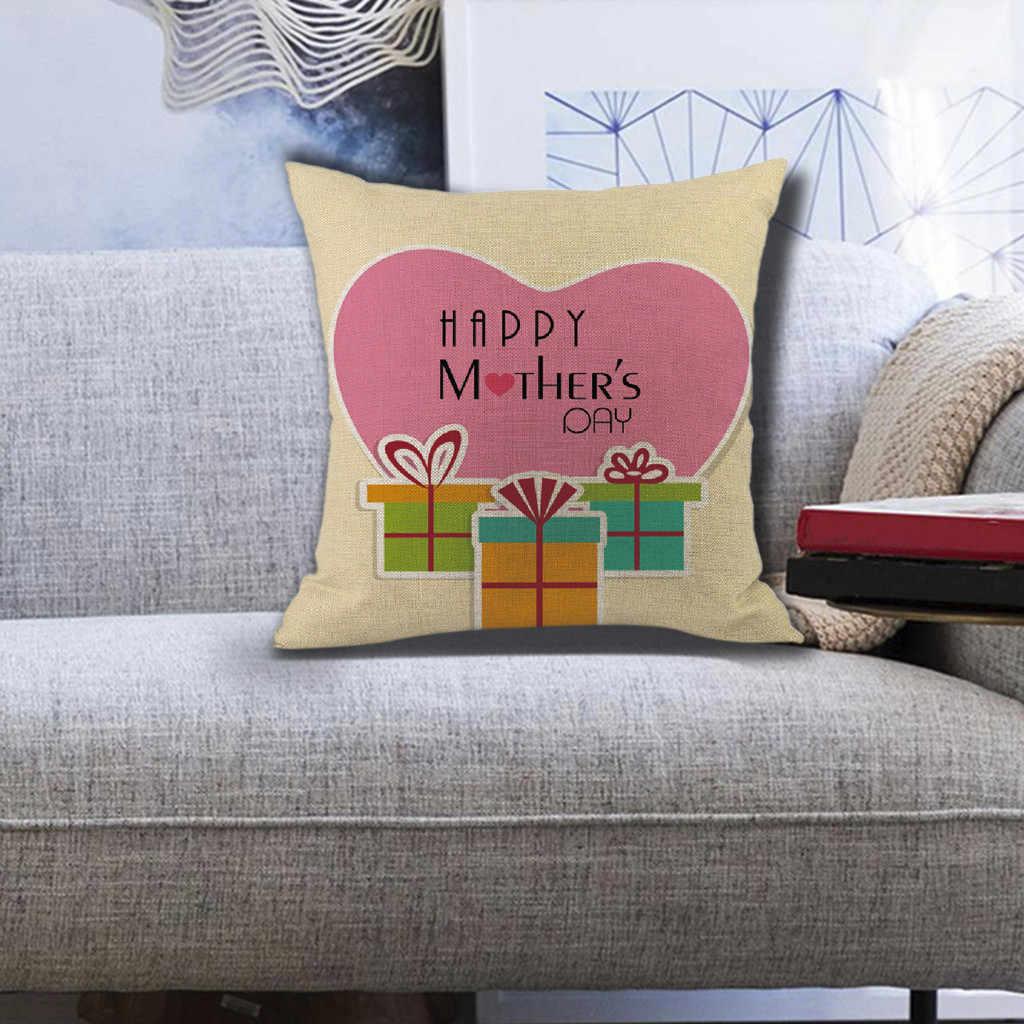هسو عالية الجودة وسادة سعيد عيد الأم رمي وسادة دافئ جديد الربيع الزهور شجرة ديكور المنزل شخصية coussin decoratif