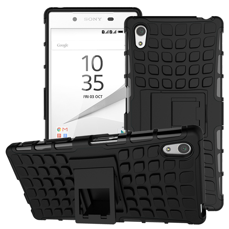 For Cover <font><b>Sony</b></font> <font><b>Xperia</b></font> <font><b>Z5</b></font> <font><b>Case</b></font> TPU & PC Stand Holder Bumper Phone <font><b>Case</b></font> For <font><b>Sony</b></font> <font><b>Xperia</b></font> <font><b>Z5</b></font> Cover For <font><b>Sony</b></font> <font><b>Z5</b></font> E6603 E6633 <font><b>E6653</b></font> image