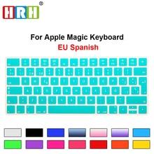 1pc Hot New Spanish Keyboard Cover Silicone Skin Protector For Apple Magic Keyboard MLA22B/A EU/UK European Keyboard Layout