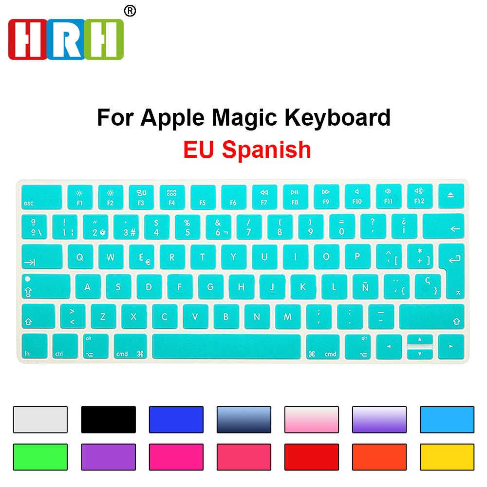 HRH Slim ESP Spanish Keyboard Cover Silicone Skin For Apple Magic Wireless Bluetooth Keyboard MLA22LL/A (A1644,2015 Released)