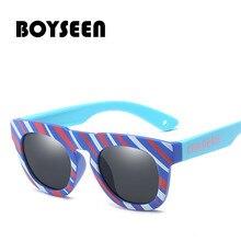 Boyseen гибкие очки Детские поляризованные очки для безопасности ребенка, солнечные очки с покрытием, UV400 очки Оттенки Детские 3498