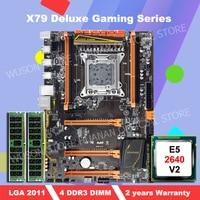 WUSON PC hardware DIY HUANAN ZHI deluxe X79 motherboard Intel Xeon E5 2640 V2 SR19Z 2.0GHz RAM 16G(2*8G) DDR3 1600MHz REG ECC