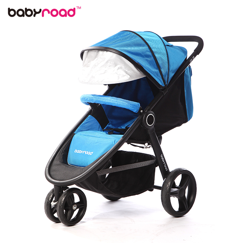 Babyroad Baby Stroller, Light Weight Baby Can Sit, Lie, Shock Proof, Folding Baby, Children Tricycle