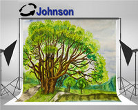 willow tree watercolours background Vinyl cloth High quality Computer print wall backdrop