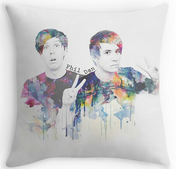 Custom Printting Pillow Case Phil Lester And Dan Howell 16 X 16 18 X