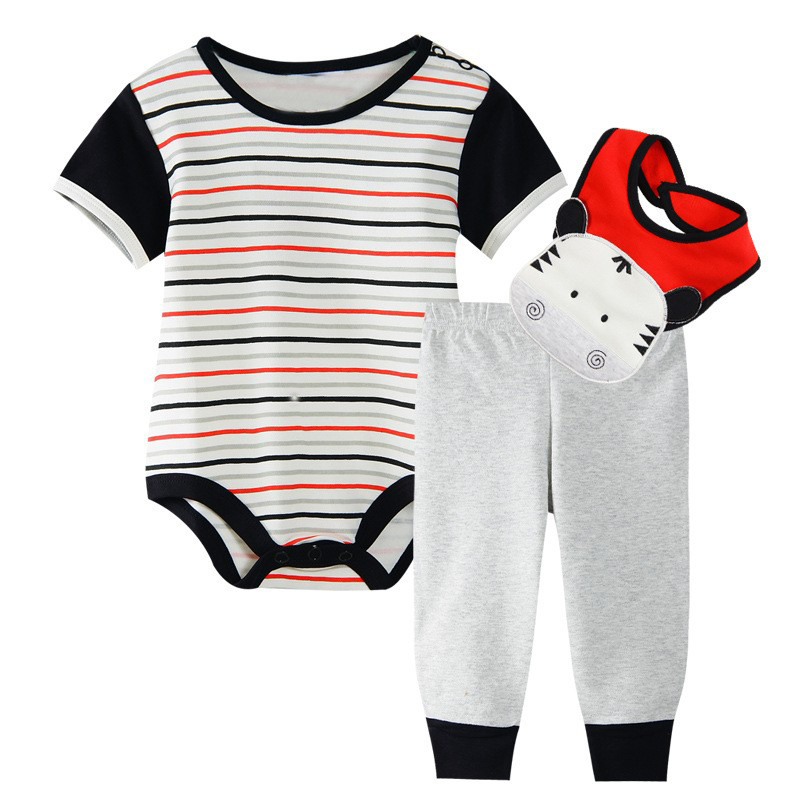 Richu baby clothing sets baby boy clothes 3 piece set baby girl clothes summer 0-3 months 2018 winter new born short sleeve 2pcs set baby clothes set boy