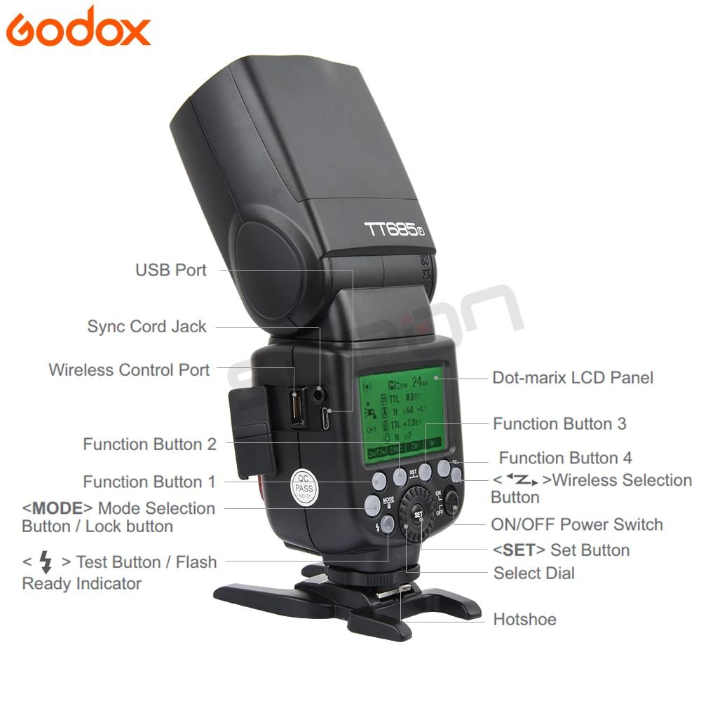 Godox TT685F 2.4G HSS TTL GN60 Flash Speedlite + Xpro-F Trigger Transmitter Kit for Fujifilm Fuji X-Pro2 X-T20 X-T1 X-T2
