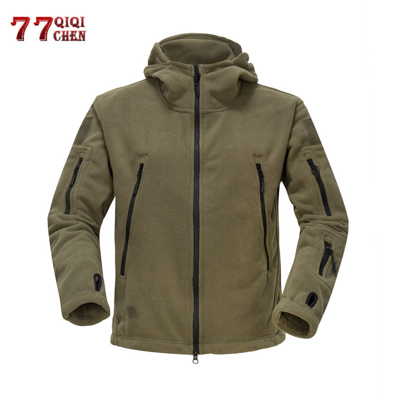Fleece Jacket Outwear Hooded-Coat Male Clothes Army Thicken Tactical Winter Warm Polar