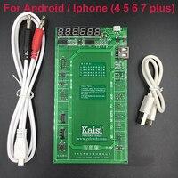 Kaisi Batterij Activering Lading Board voor Android telefoon iPhone 7 Plus 6 S 6 Plus 5 S 5 4 S 4 + micro Usb-kabel telefoon reparatie tool