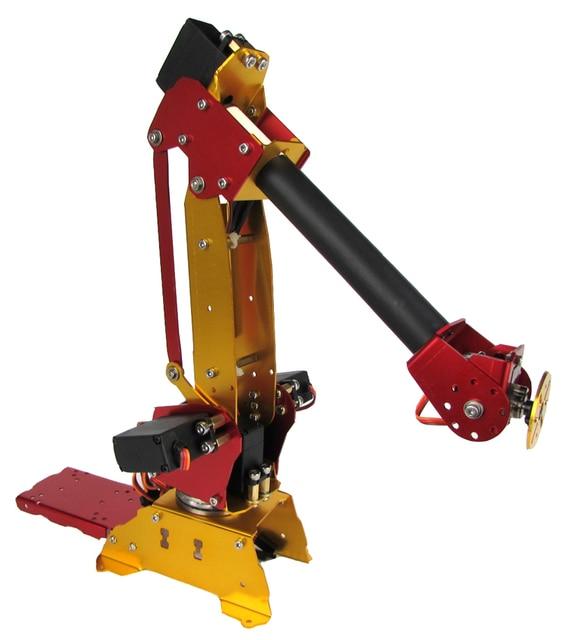 free shipping Arduino-powered desktop 6-axis parallel-mechanism  metal  robot arm PalletPack industrial robot arm