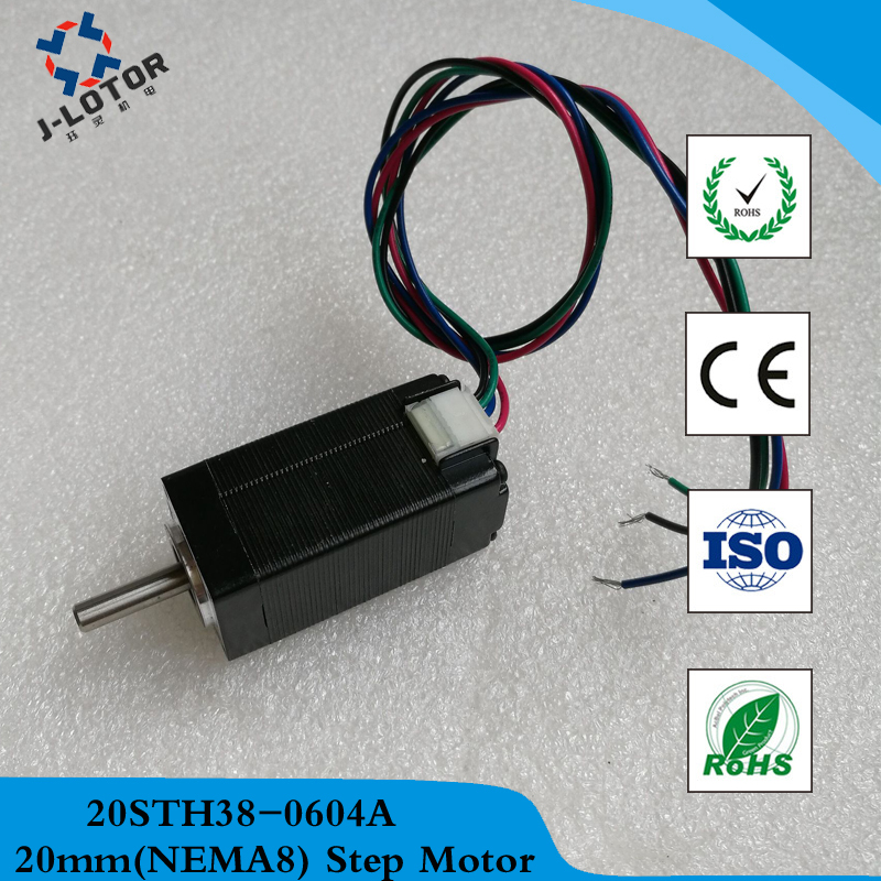 20BYGH38 1.8 degrees 2-phase 20mm NEMA8 stepper motor 20BYG38 0.6A 400g.cm Stepping Motor JL20STH38-0604A