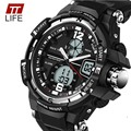 TTlife Fashion Watch Men Waterproof LED Sports Military Watches Shock Men Analog Quartz Digital Watch relogio masculino