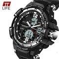 TTlife Moda Homens Relógio À Prova D' Água LED Esporte Militar Relógios Choque Homens Relógio Analógico Digital De Quartzo relogio masculino