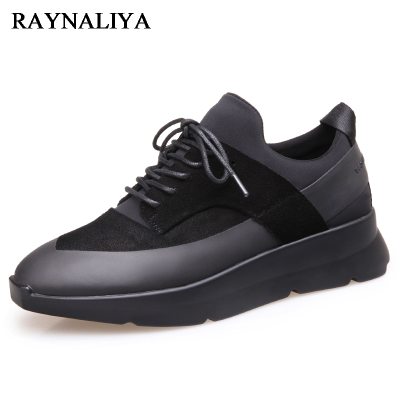 2018 Men Driving Leather Casual Shoes Lace Up Black Man Genuine Leather Loafers Black Man Luxury Fashion Footwears BH-B0036 2017 men shoes fashion genuine leather oxfords shoes men s flats lace up men dress shoes spring autumn hombre wedding sapatos