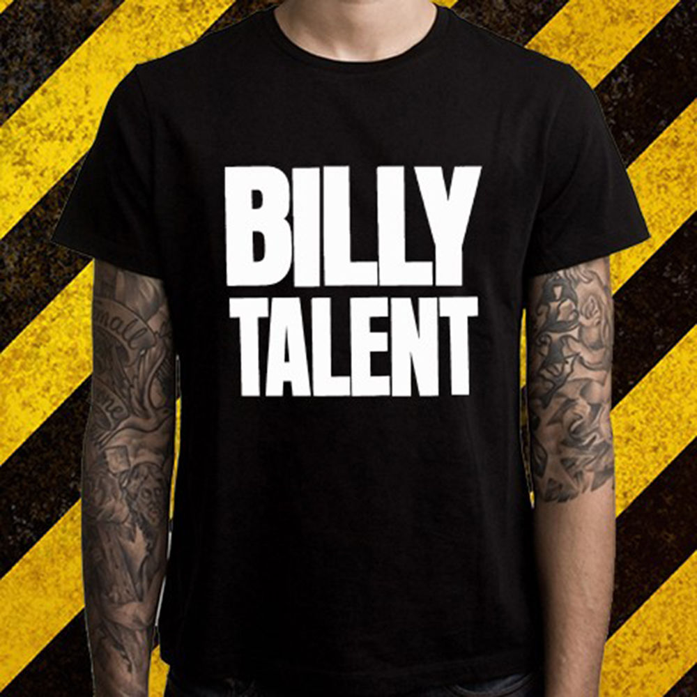 Gildan New Billy Talent Canadian Rock Band Logo Mens Black T-Shirt Size S To 2XL White O Neck Cotton T Shirt Simple Style