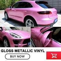 High Quality Gloss Metallic Wraps Car Accessories Car Auto Body Sticker Wrapping Vinyl Wrap For Porsche