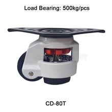 4 шт. cd-80t Регулировка уровня нейлон колеса и тарелка треугольная выравнивания МНЛЗ промышленных Колёсики нагрузка 500 кг/шт. jf1527