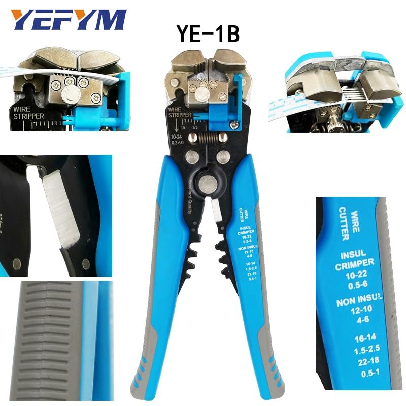 3 in 1 Multi tool Automatische Einstellbar Crimpen Werkzeug Kabel Draht Stripper Cutter Peeling Zange D1 blau reparatur diagnose- werkzeug